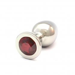 Plug Anal Rosebuds Swarovski XLARGE - Red Magma
