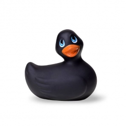 "Canard Vibrant ""I Rub My Duckie Travel Size"" Noir - Big Teaze Toys"
