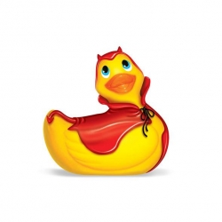 "Canard Vibrant ""I Rub My Duckie Travel Size"" Red Devil - Big teaze Toys"