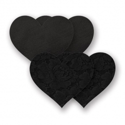 Cache-seins Nippies Basic Heart Noir