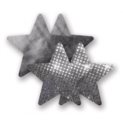 Cache-seins Nippies Solid Night Fever Stars