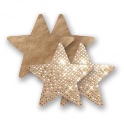 Cache-seins Nippies Solid Superstar Stars