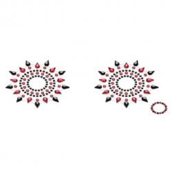 Décorations pour seins Gloria Noir & Rouge - Petits Joujoux