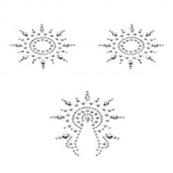 Décorations pour seins et pubis Gloria Argent - Petits Joujoux