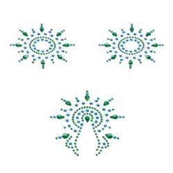 Décorations pour seins et pubis Gloria Turquoise & Vert - Petits Joujoux
