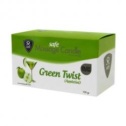 Bougies de Massage Green Twist Pomme - Safe