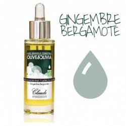 Huile sensuelle comestible gingembre-bergamote - Laboratoire Claude