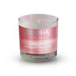 Bougie de Massage Scented Blushing Berry 225 ml - Dona