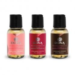 Coffret Huile de Massage Flavored 3*30 ml - Dona