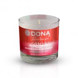 Bougie de Massage Kissable fraises soufflées - Dona