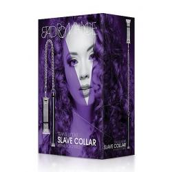 Collier pour Esclaves avec Pointes en Métal Blanc Translucide - Bad Romance