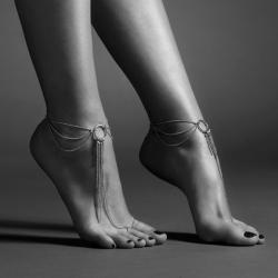 Magnifique chaine de pieds - argent - Bijoux Insicrets