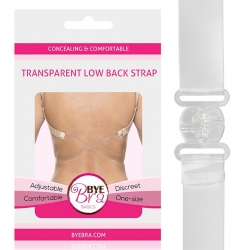 Bye Bra - Transparent Low Back Strap Clear